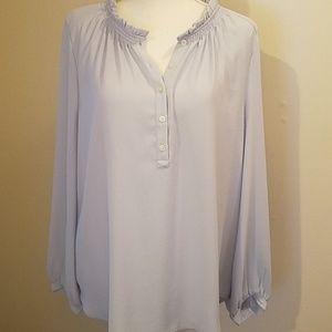Loft blue blouse